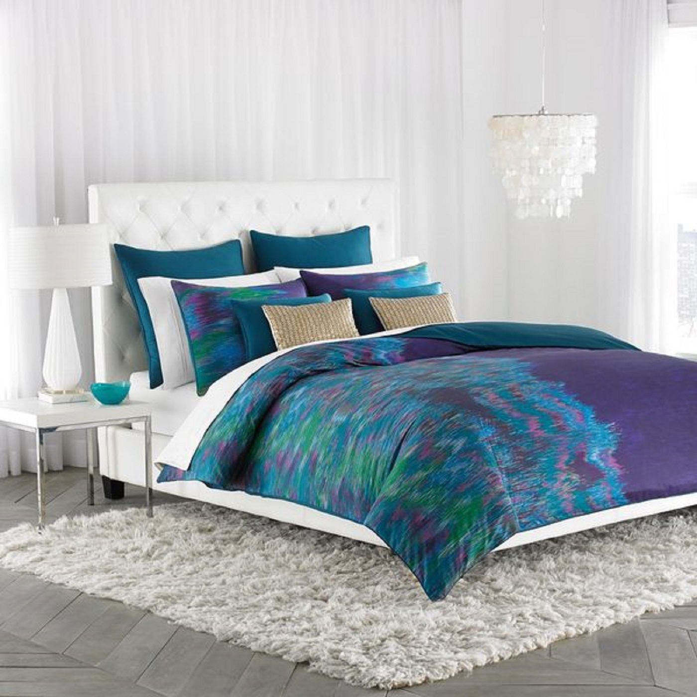 Decorating Your Bedroom With Green Blue And Purple