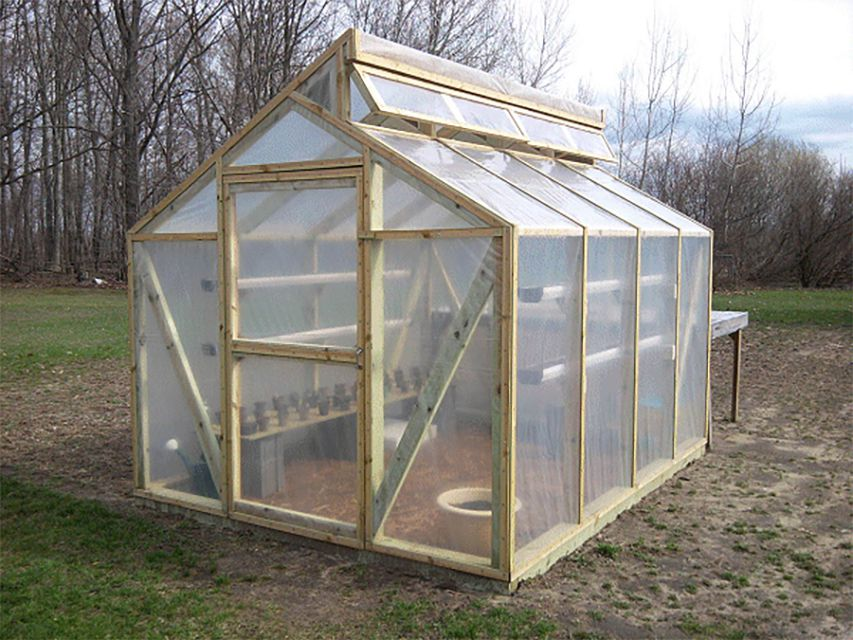 A Wooden Framed Greenhouse