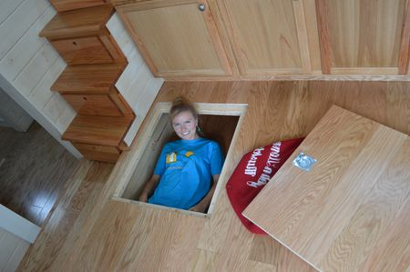 Smart Storage Solutions Under Floor E In Home Brevard Tiny House