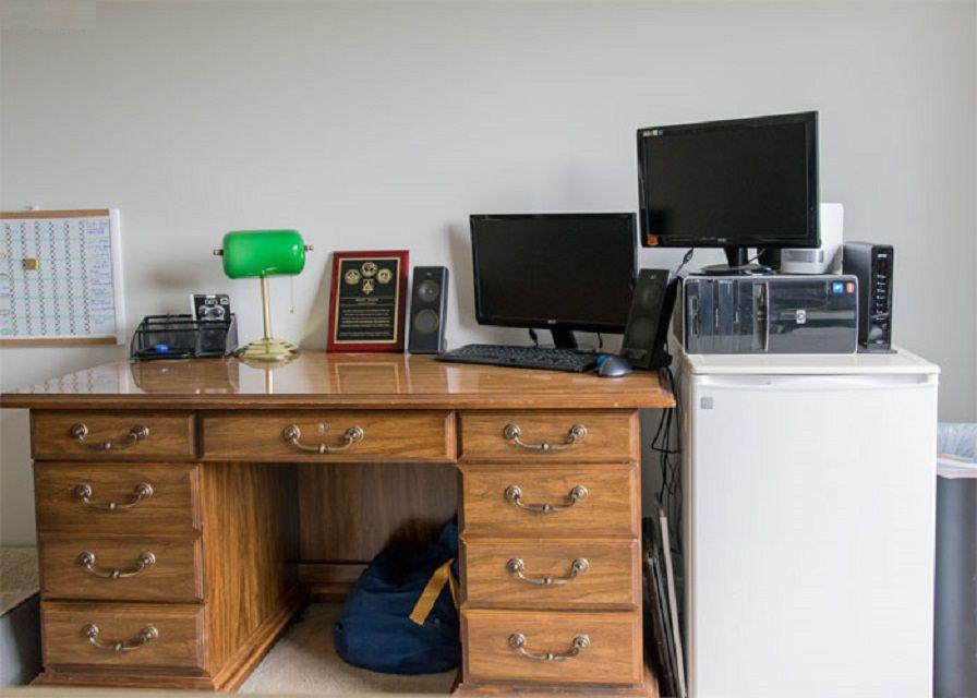 Antes - Cambio de imagen patriótico de la oficina en el hogar