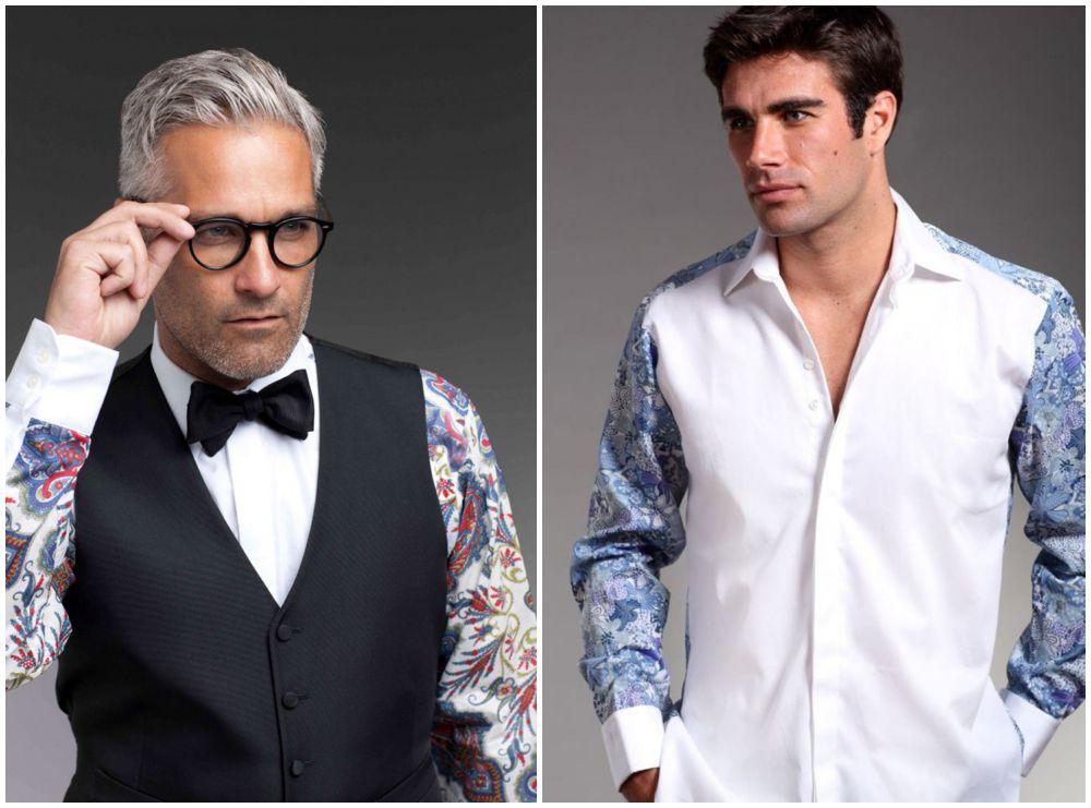 camisas de manga con estampado