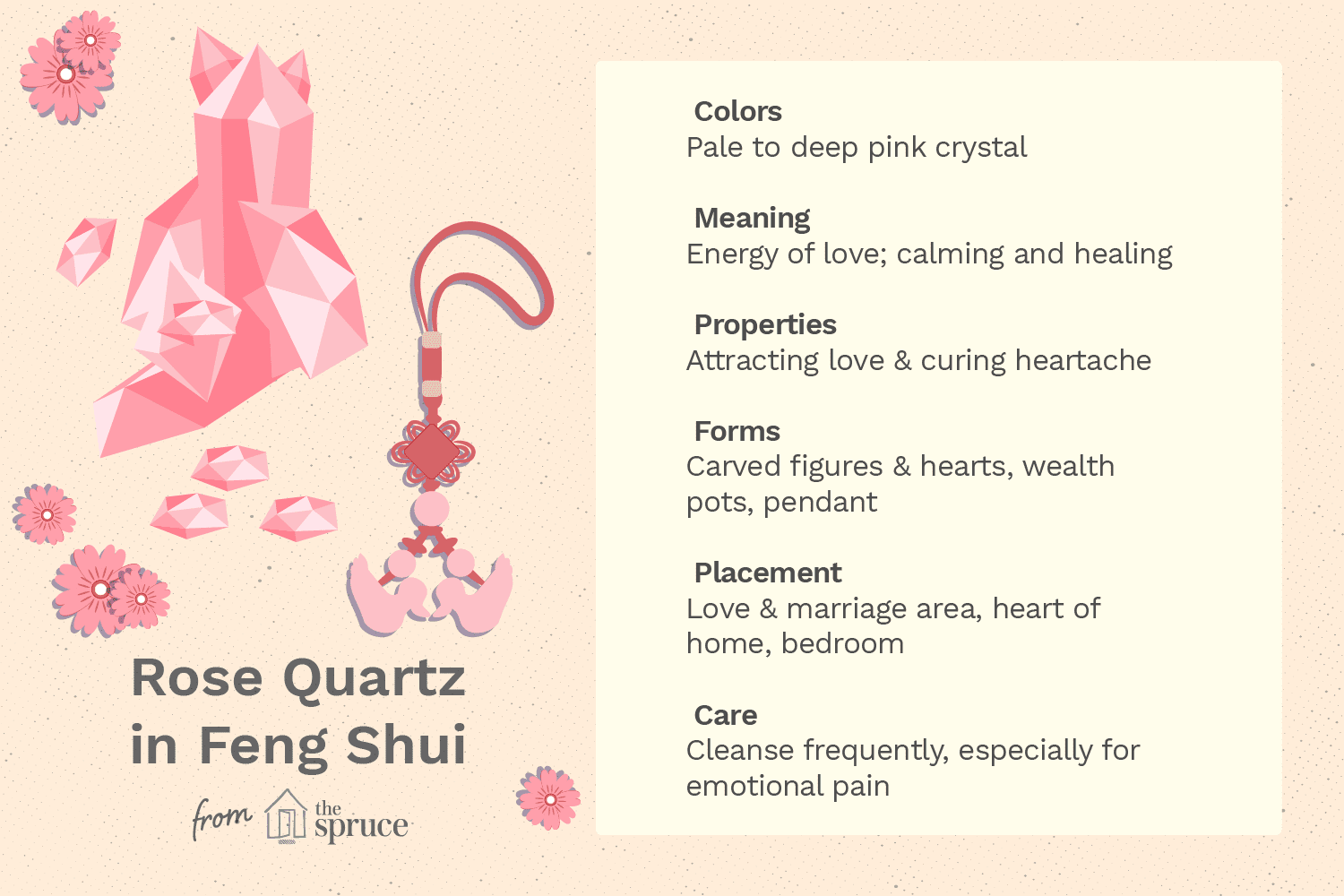 the heart healing properties of rose quartz use in feng shui