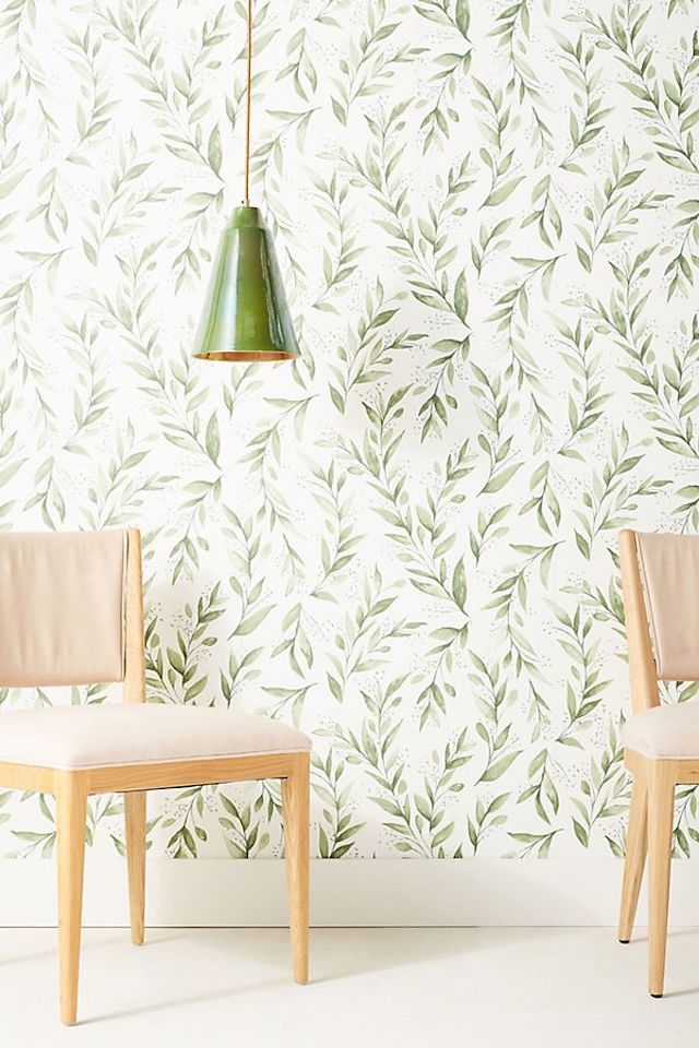 olive branch wallpaper from Joanna Gaines Magnolia Home collection