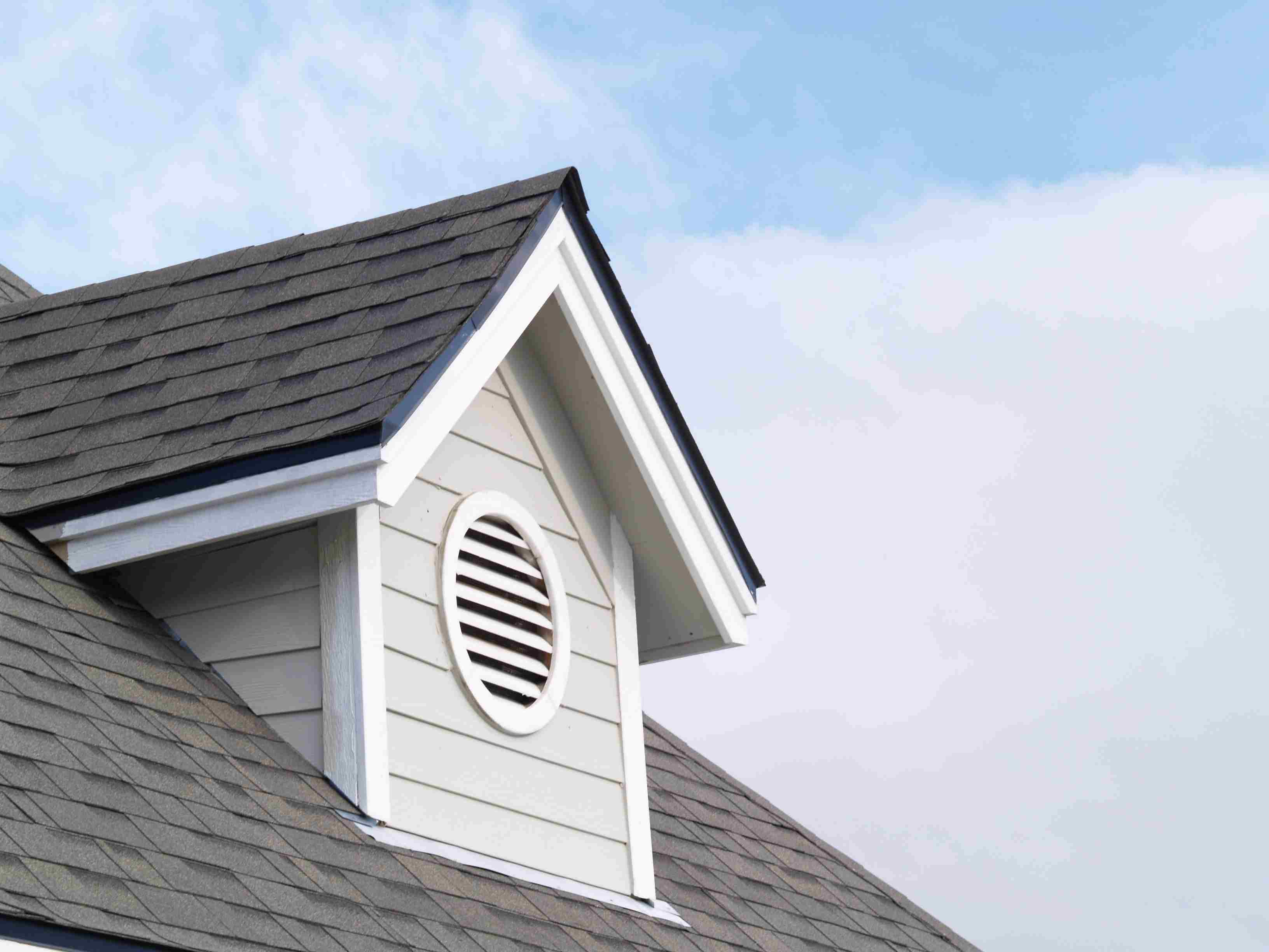 Exterior view of an attic vent