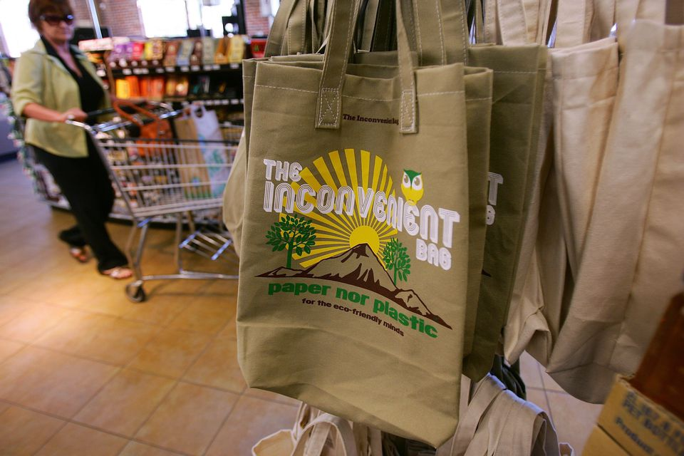 Clean Reusable Grocery Bags