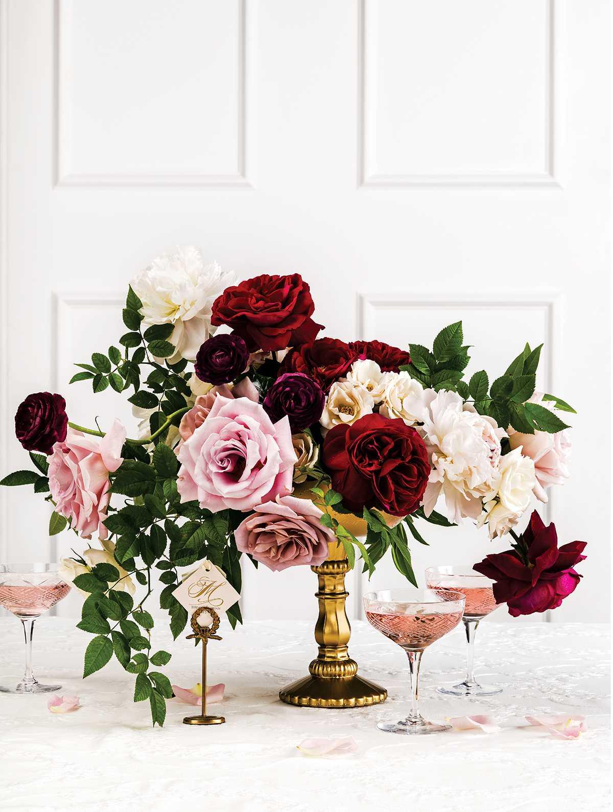Rose Winter Wedding Flower