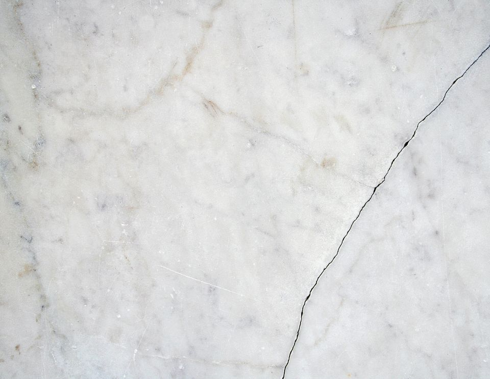 Cracked white marble II