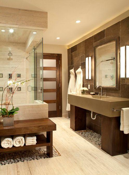 Un baño con temática de spa