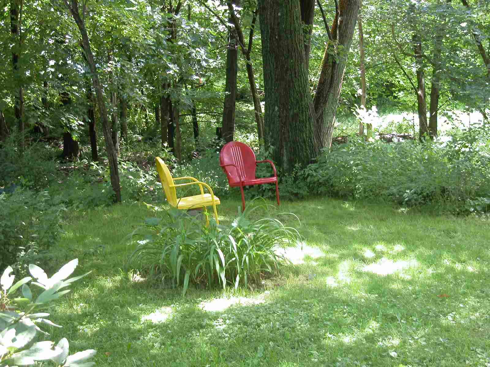 Un toque de color en el jardín