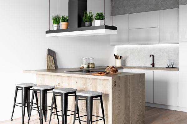Concrete accent kitchen