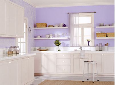 Lavender Kitchen Wall Color