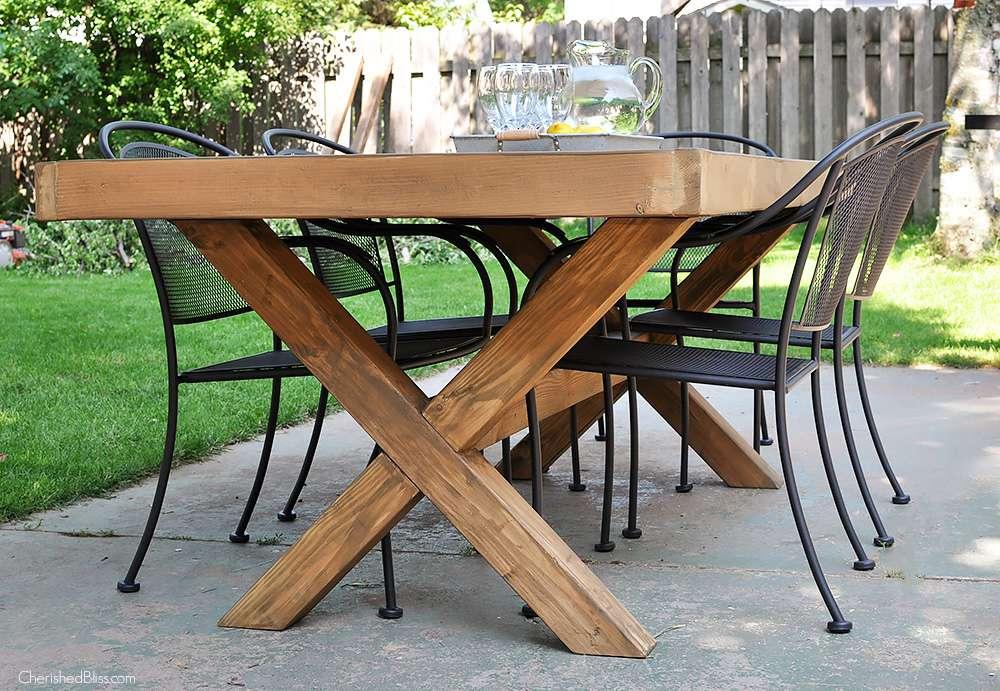 18 Diy Outdoor Table Plans, Garden Dining Tables