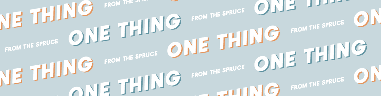 "Banner with repeating ""One Thing"" text logo"