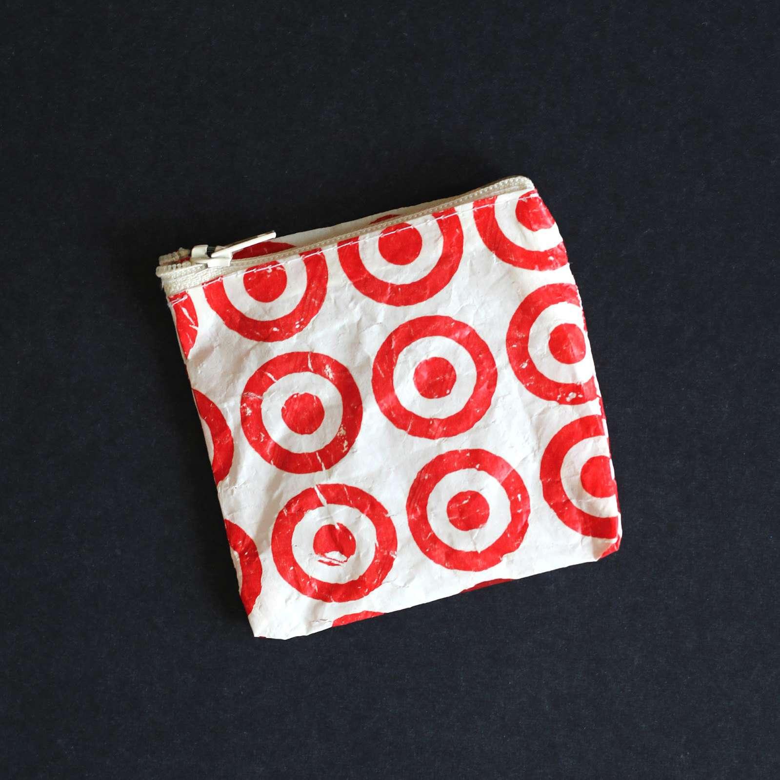 DIY plastic bag coin purse.