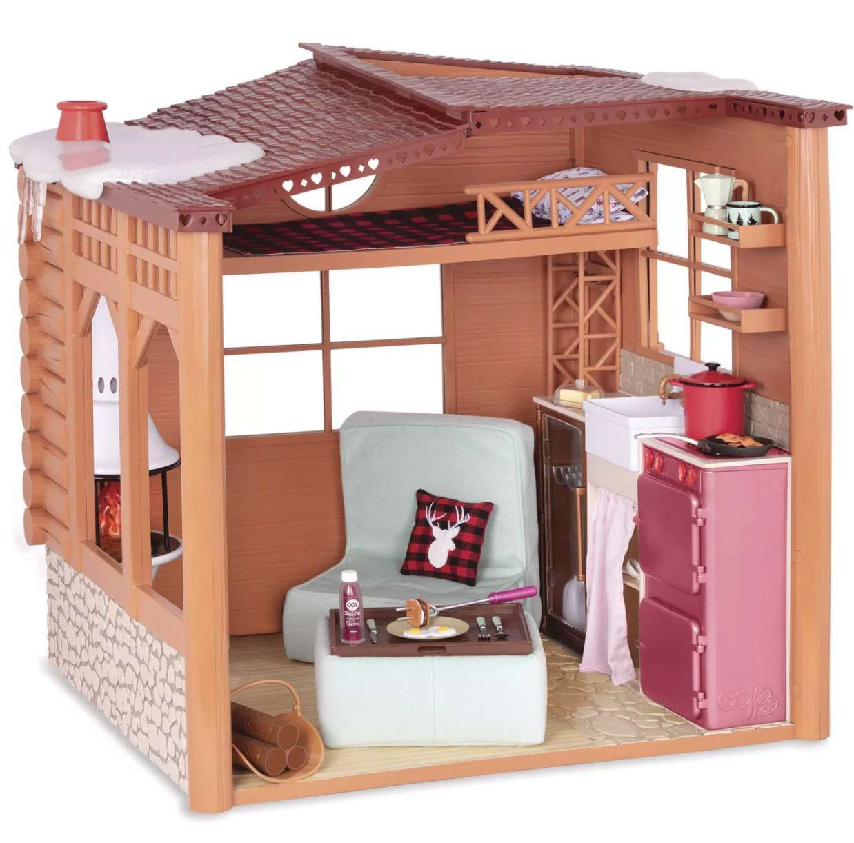 Our Generation Cozy Cabin Dollhouse Playset