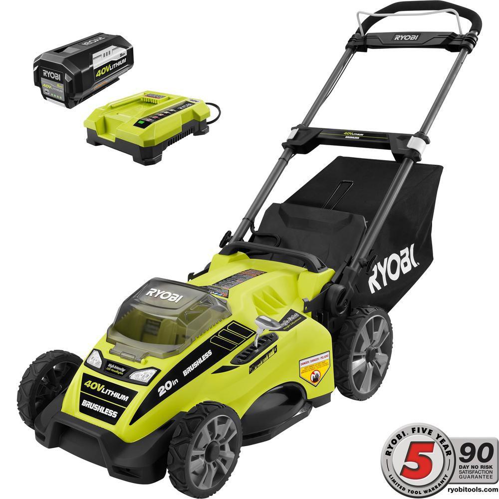 Ryobi 20-Inch 40V Battery Lawn Mower