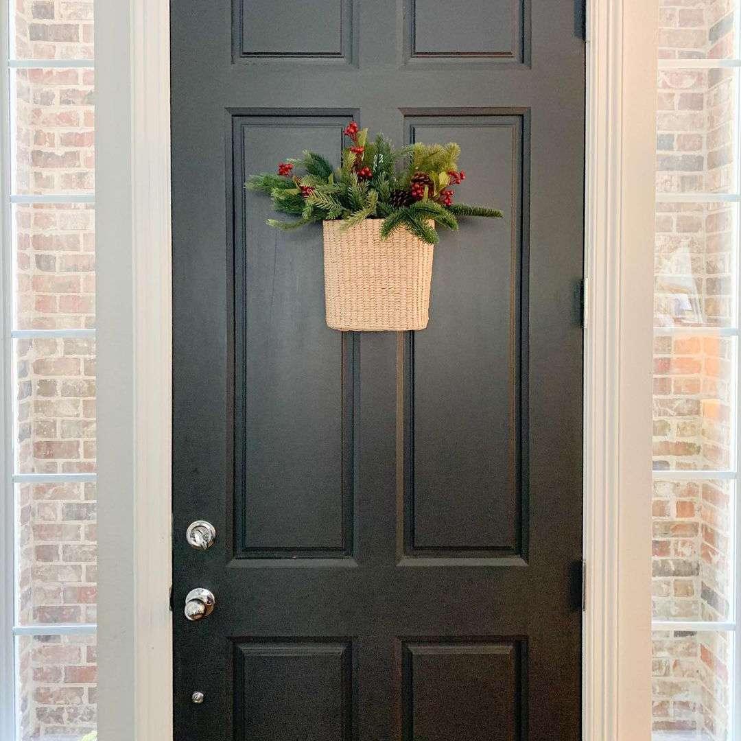 Door with basket
