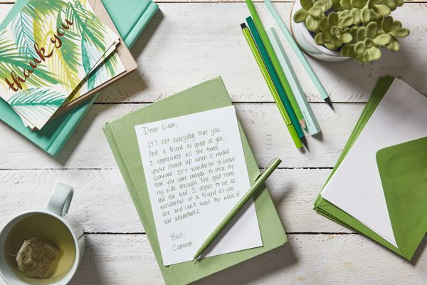 a thank you friendship note