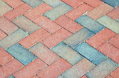 Photo of herring bone brick pattern