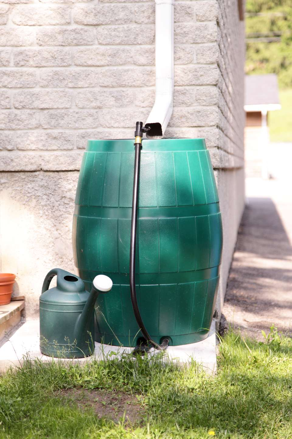 Rain barrel water conservation