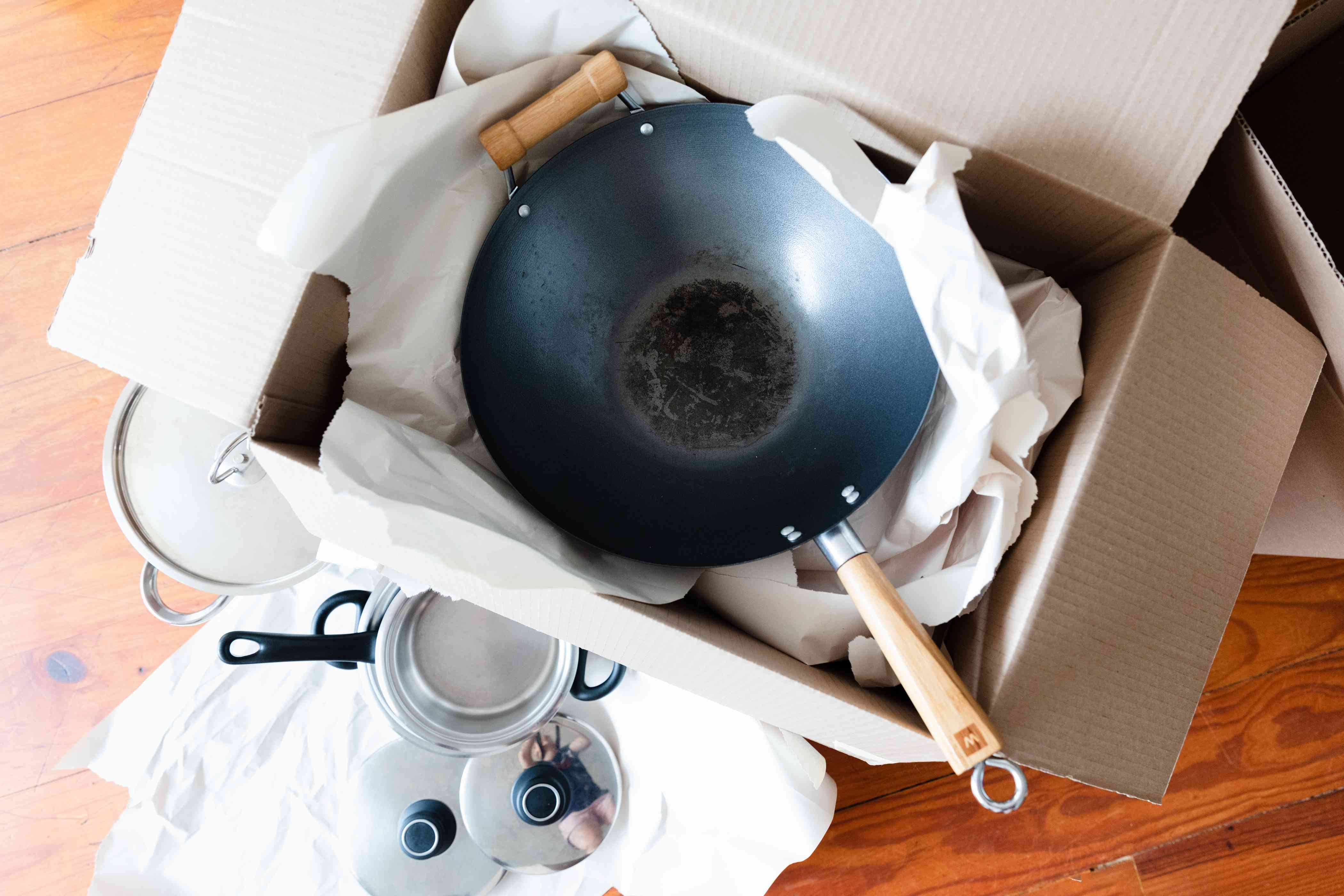 packing up pots and pans