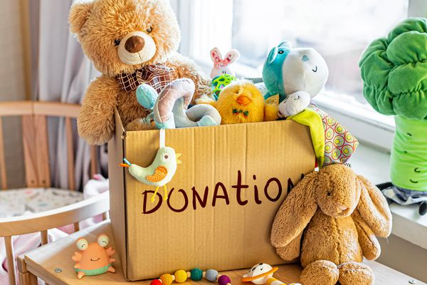 donation box of toys