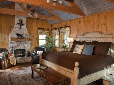 Rustic lodge bedroom