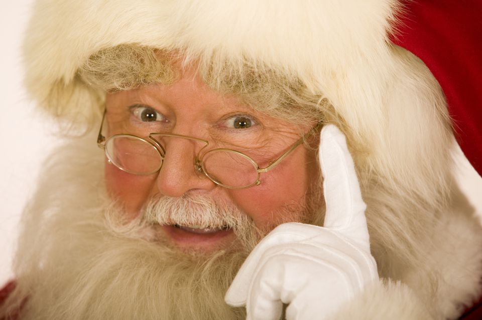 An up-close picture of Santa