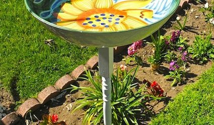 Cute Serving Dish Bird Bath