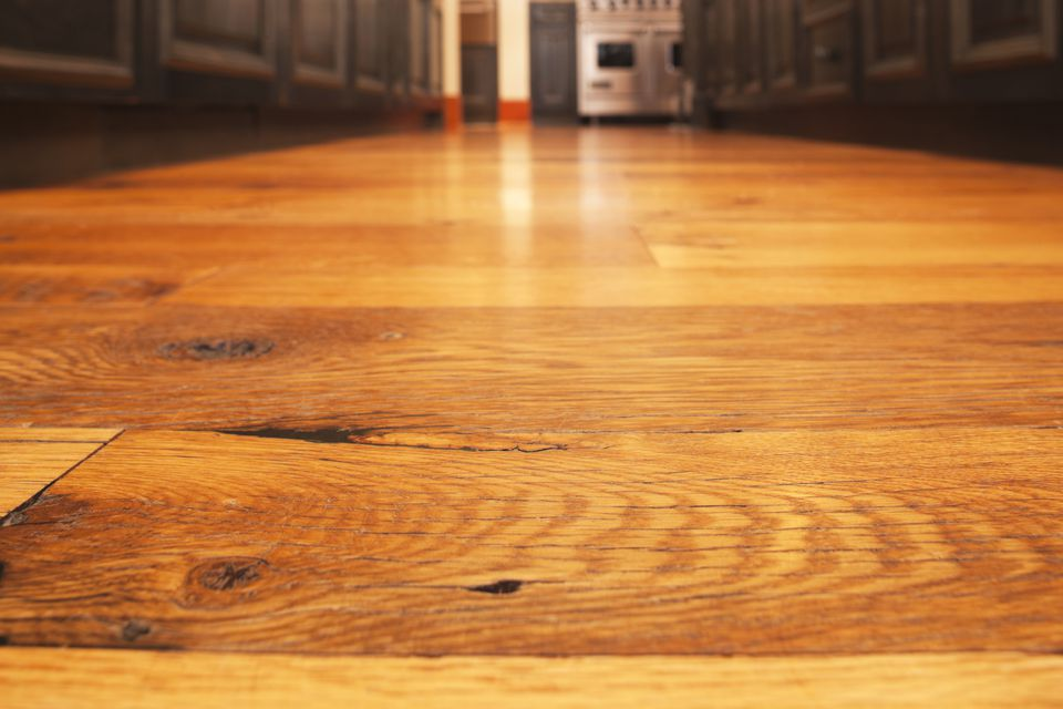 A close-up of a hardwood floor
