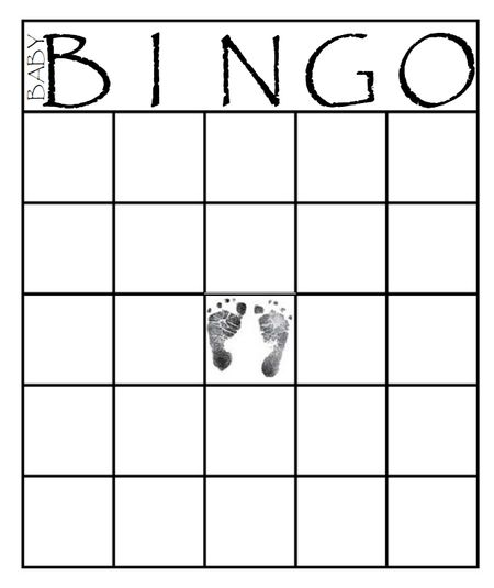 Baby Shower Bingo Template | 29 Sets Of Free Baby Shower Bingo Cards