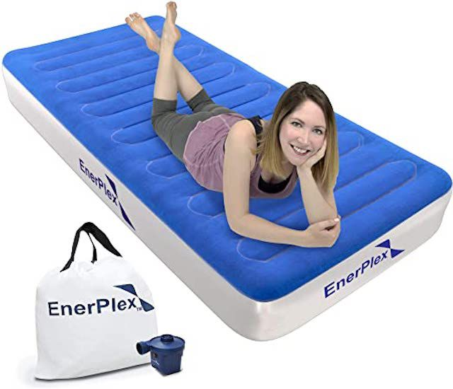 EnerPlex Never-Leak Camping Series Twin Camping Airbed