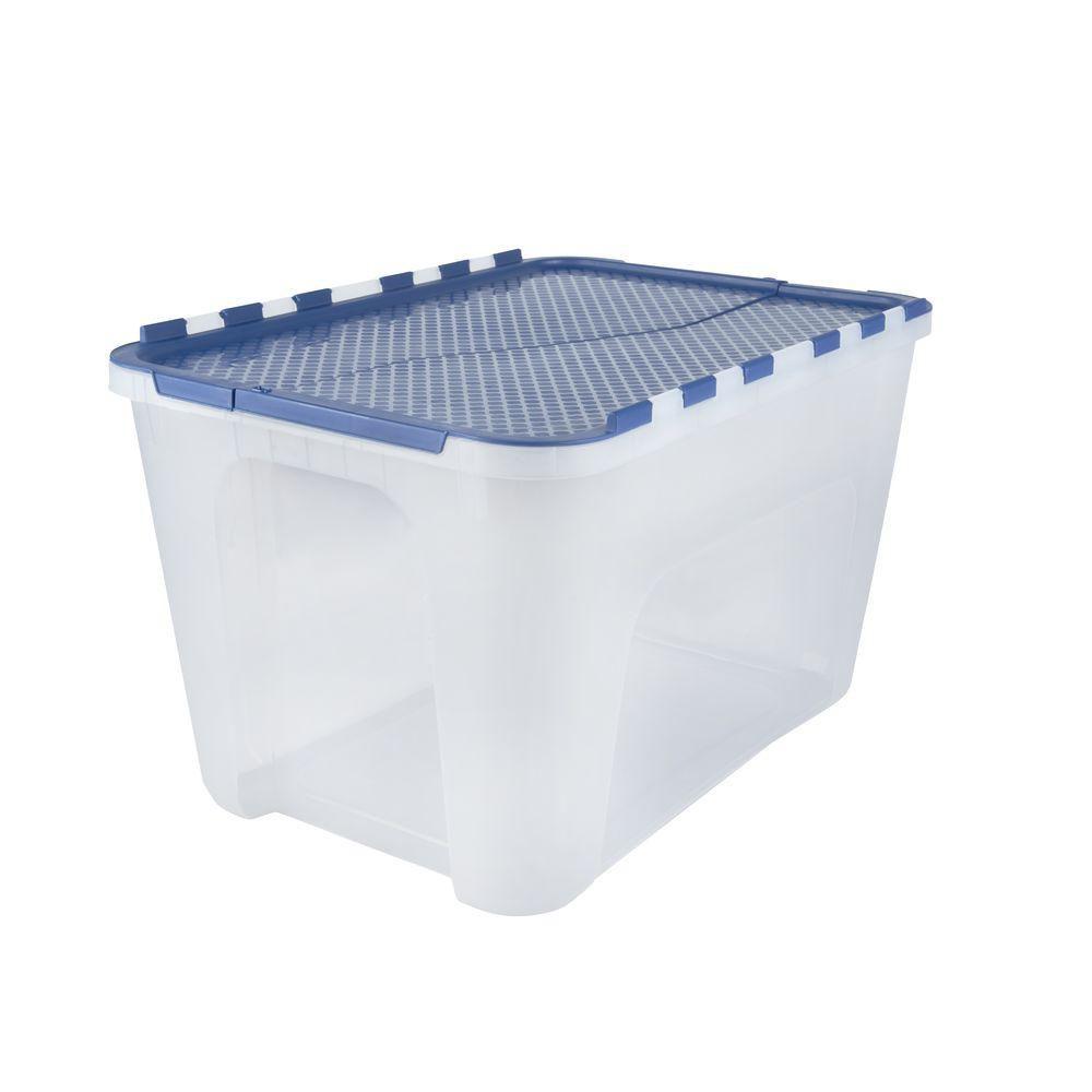 HDX 12 Gal. Flip-Top Storage Tote (4-Pack)