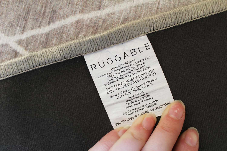 Ruggable Kavi Diamond Silver Rug