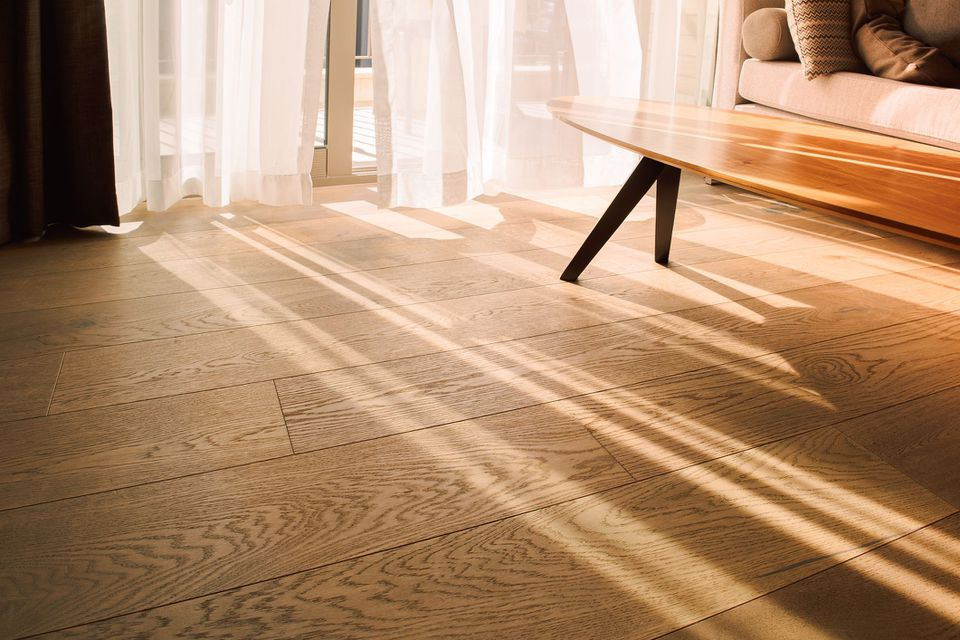 Modern Room Interior With An Open Window In Minimal Style. Transparent Tulle With Morning Sun Rays