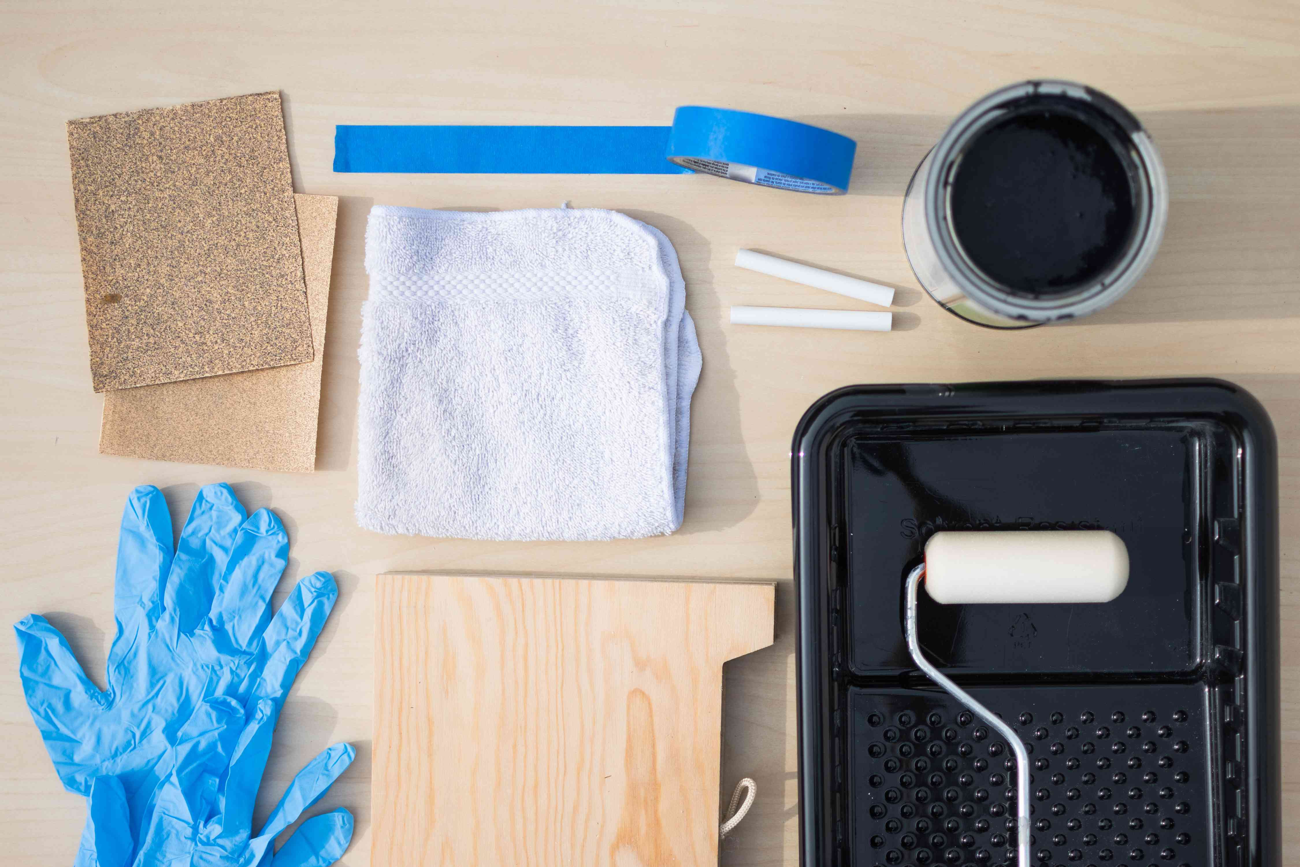 Materials and tools to use and apply chalkboard paint