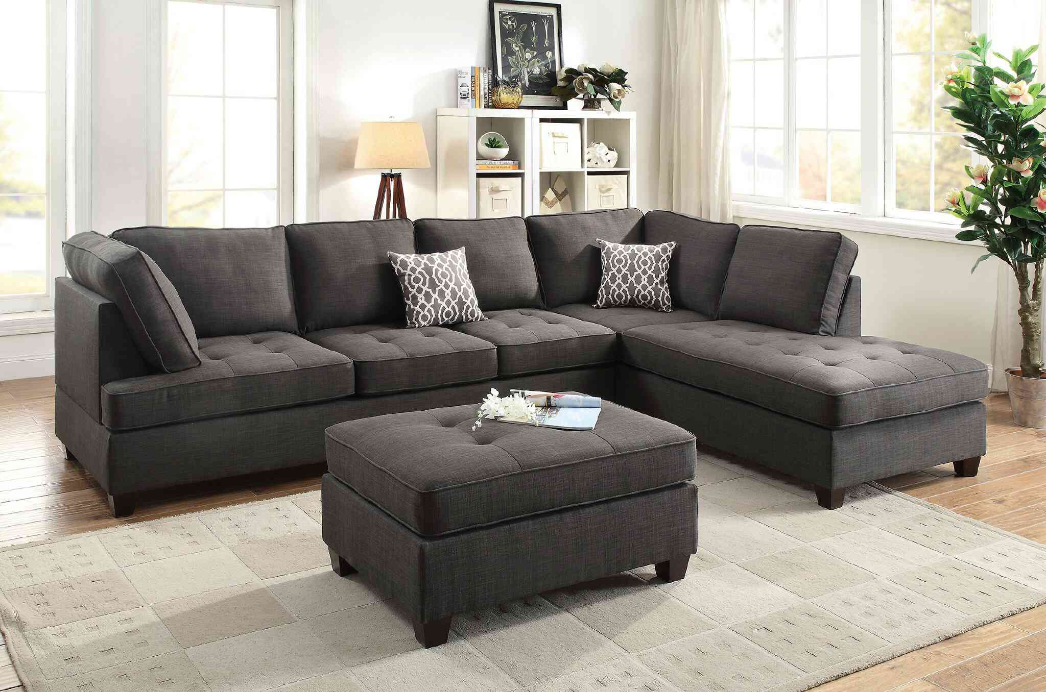 """118"""" Wide Reversible Sofa & Chaise"""