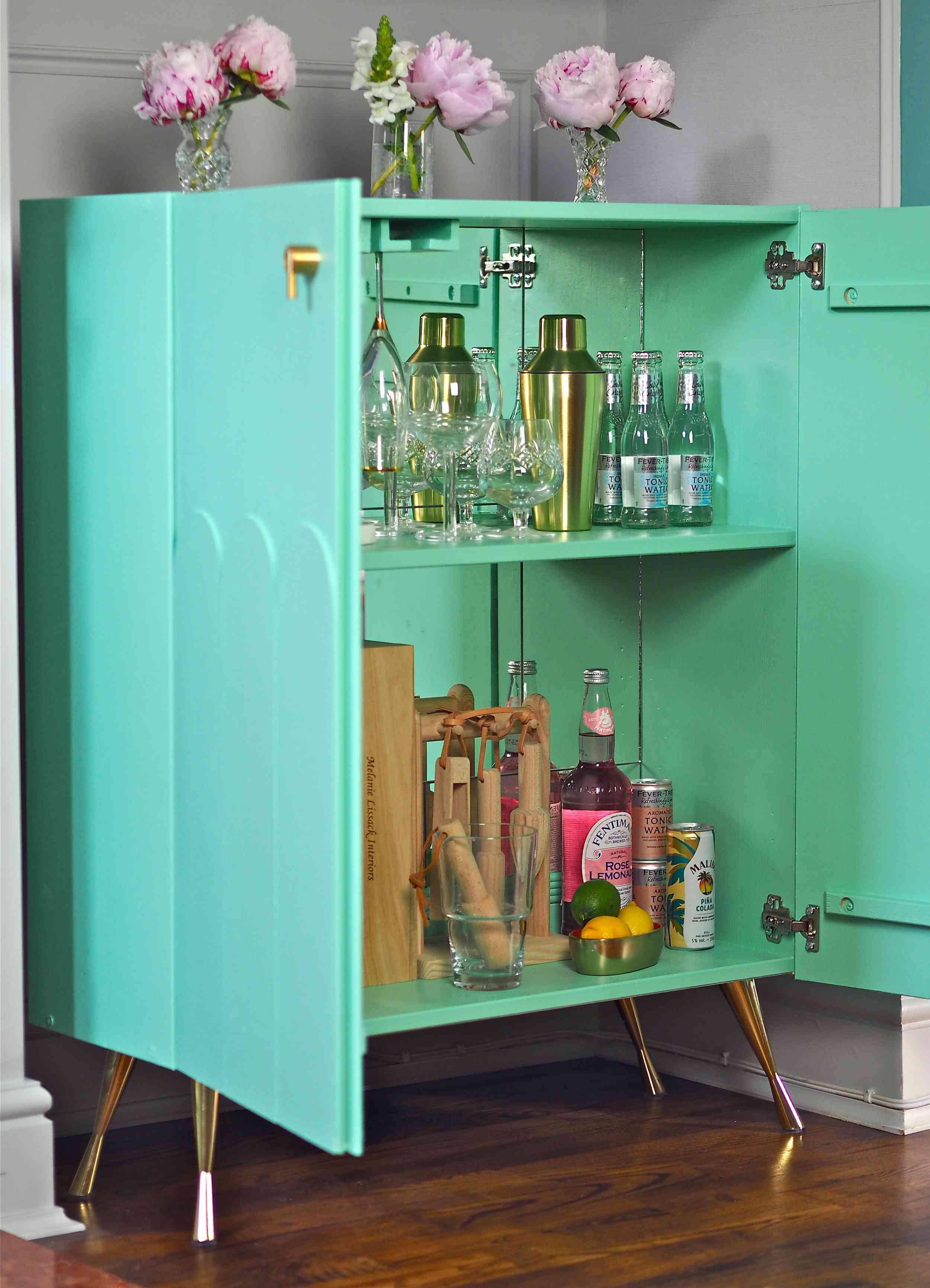 Green bar cabinet