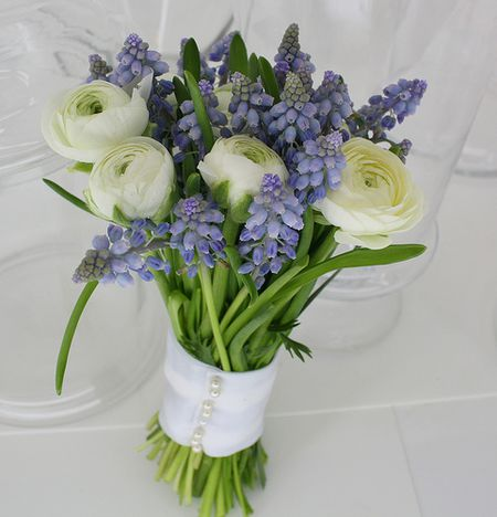 Blue Spring Wedding Flowers