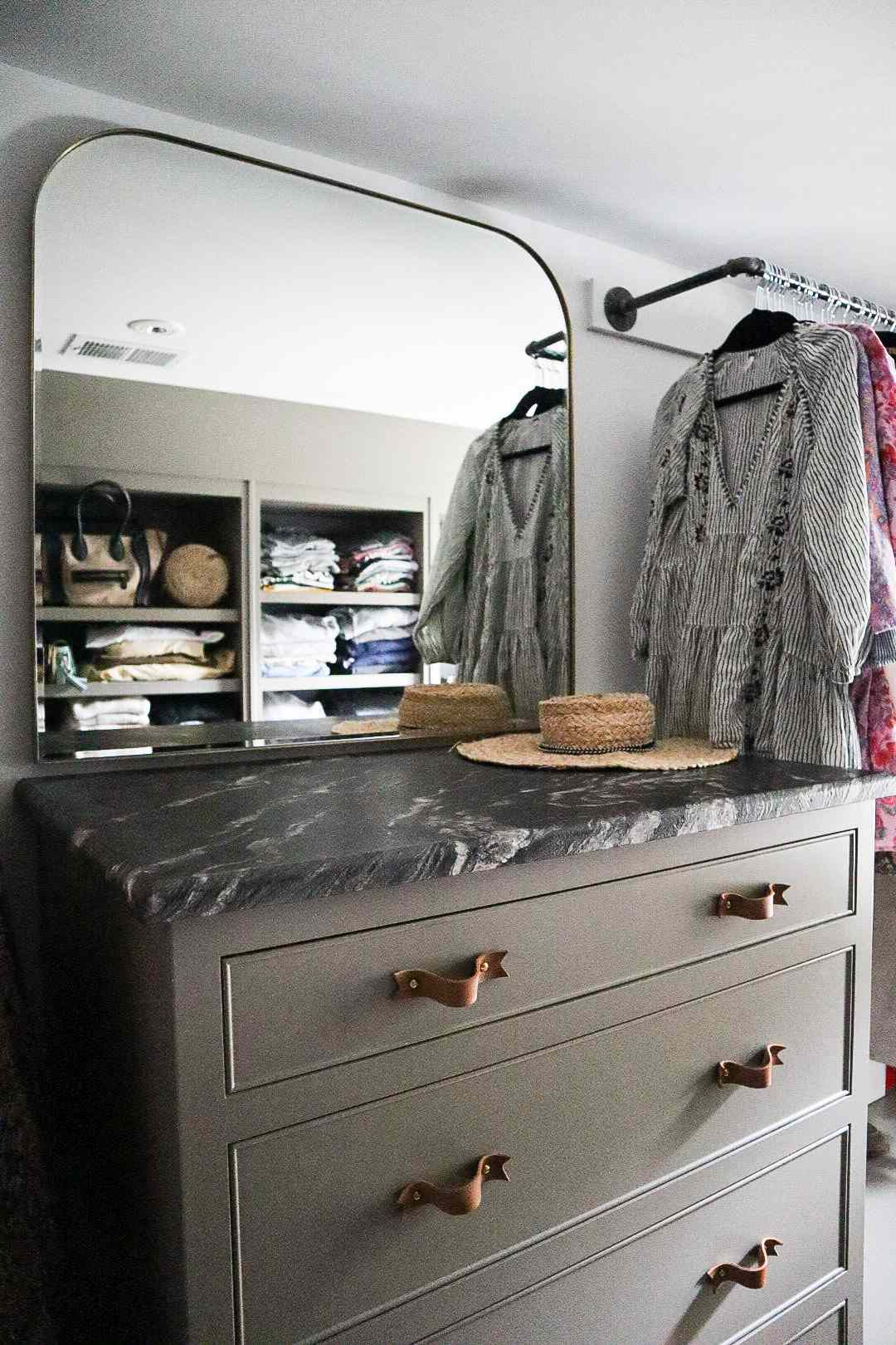 A dressing area in the Shaker Heights home of Molly & Fritz