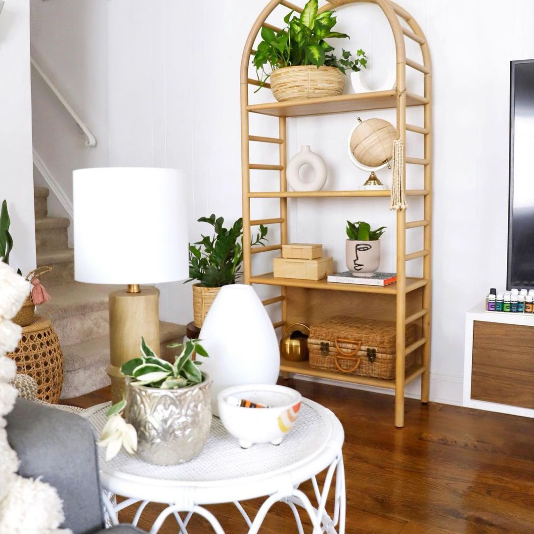 Boho shelf in living room