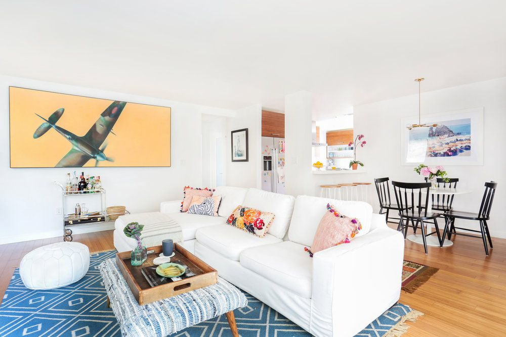 Open concept space with small living room