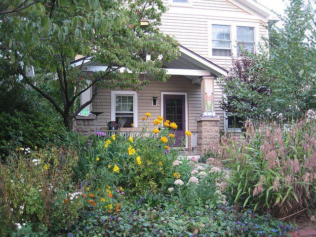 Jardín sin césped