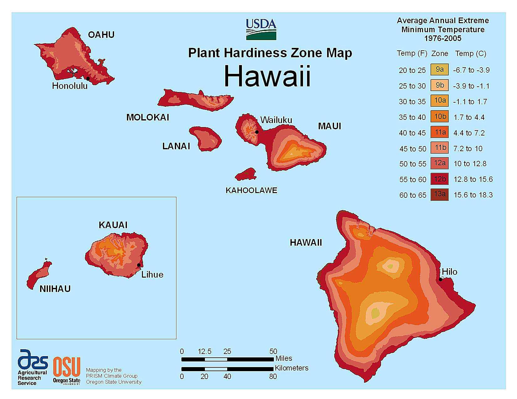 Photo of the Hawaii Hardiness Zones