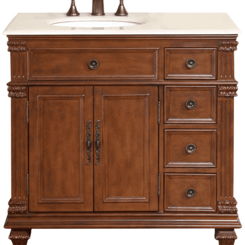 Best Traditional Torrington Wooden Single Bathroom Vanity