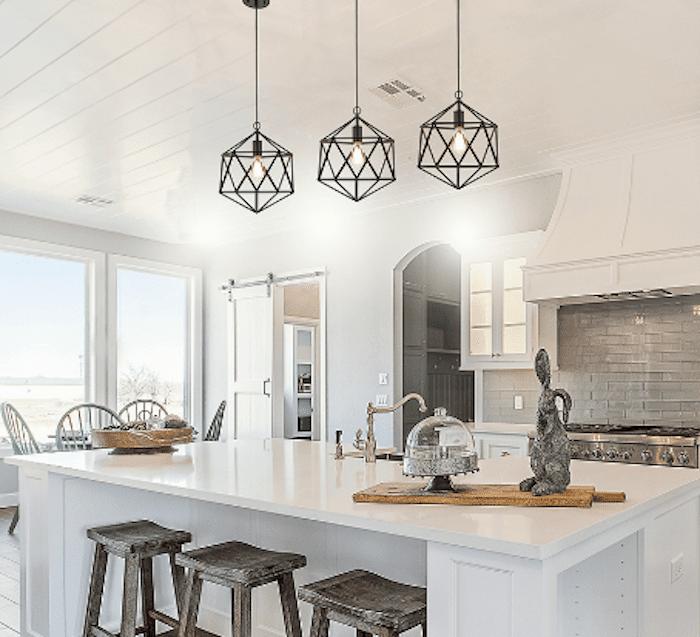 Better Homes & Gardens Metal Cage Hardwire Pendant Light, Black Finish