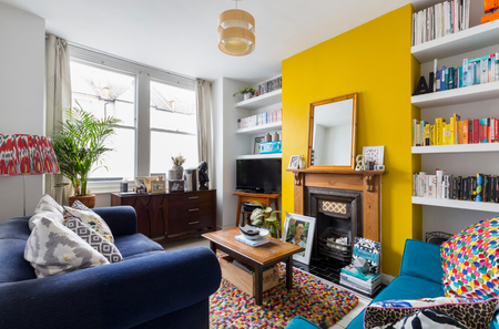 48 Living Rooms With Accent Walls Enchanting Yellow Living Room