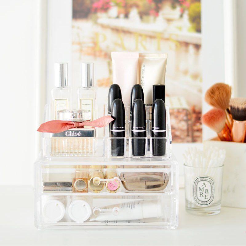 Organizador de maquillaje transparente