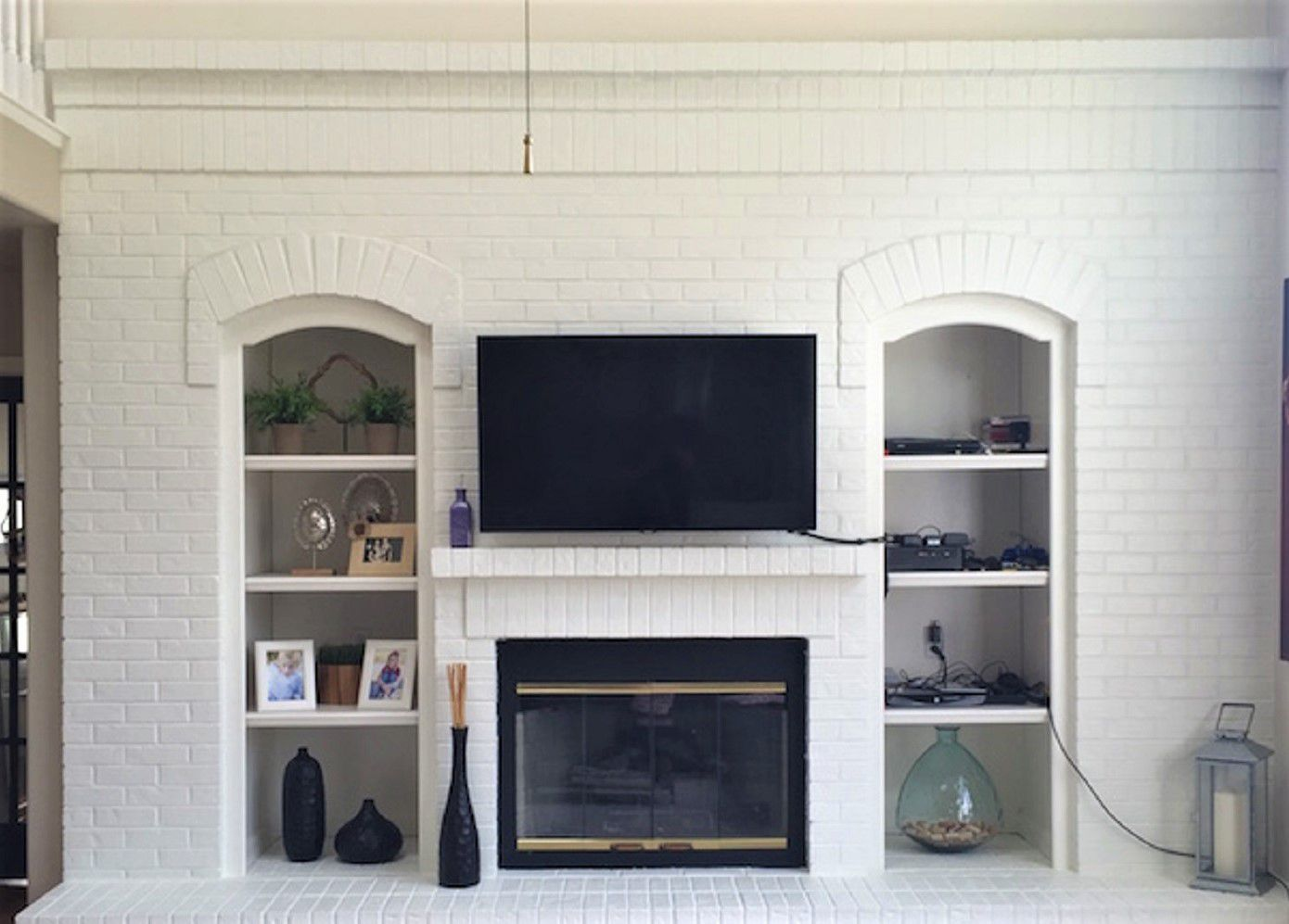 Fireplace Peach Eradication Makeover After