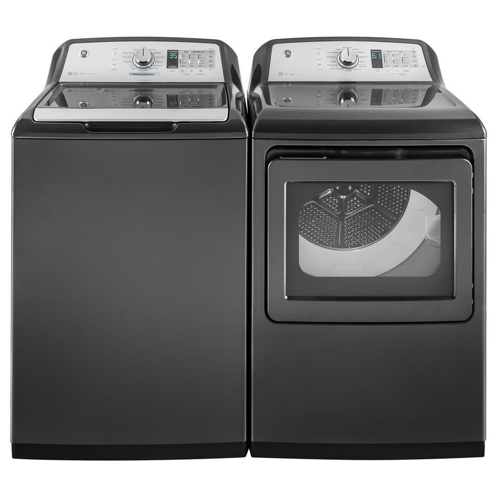 Best Smart Top Loading Ge 5 0 Cu Ft Washer And 7 4 Dryer